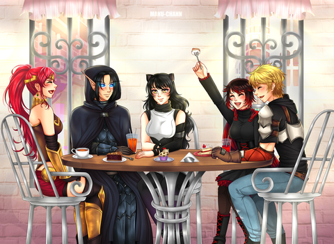 Commission: Just a normal get together by manu-chann