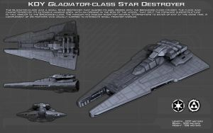 Gladiator-class Star Destroyer ortho [New] by unusualsuspex