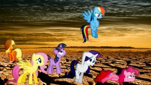 Mane 6 Roaming The Wasteland by Macgrubor