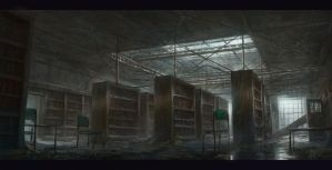 Derlict Library by KillerBe