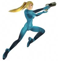Zero Suit Samus Action Pose by Ryu-Gi