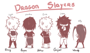 dragon slayers lineup by hyokka