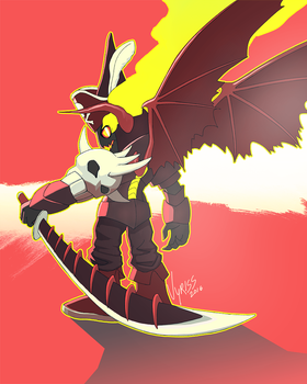 dragon pirate robot guy by V-y-r-i-s-s