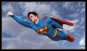 Superman In Flight by celticarchie