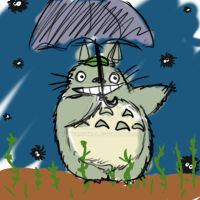10min sketch number 2 Totoro by MeowMowRaa