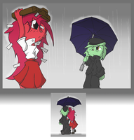 FlippyxFlaky- Rainy Day by BlindSnipeFreeLancer