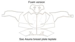 Asuna Breast plate template by Joshsonic8