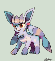 Minie the Glaceon by LizardonEievui13