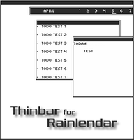 Thinbar Rainlendar by ampangel