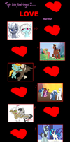 Top 10 de mis Shippings de MLP: FIM (Parte 2) by 3D4D