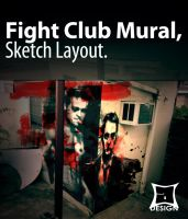 Mural Sketch Fight Club by aMorle