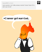 Ask Sansby and son #70 - married? by TheNightmareGirls