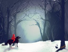 Winter forest by rogueXunited
