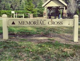 memorial cross sign. by stephhabes