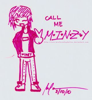 Call me M-I-N-Z-Y by profoundlyshallow