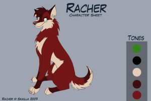 Racher - Old Character Sheet by Skailla
