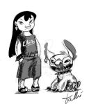 Teen Lilo (and Stitch) by SWING-21