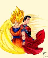 Superman and Goku by Treskies