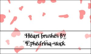 Heart brushes by ephedrina-stock