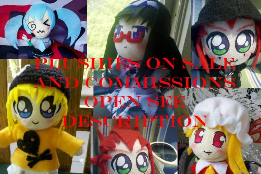 PLUSHIES SALE COMMISSIONS AH by auragoth