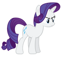 Angry Rarity Vector. by PaulySentry