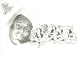 Biggie Smalls Sketch by TheGraeOneOne
