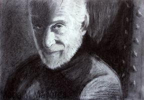 Tywin Lannister (Black and White) by Maria-M-Mey
