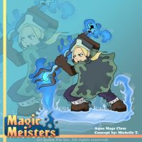 Magic Meisters: Water Mage Class Concept by PolyMune