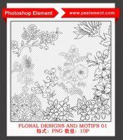 Floral Designs and Motifs 01 by mini0714