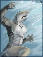 Happy Shark Week  (Male Vrias) by Ulario