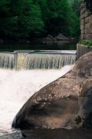 Mill and Stream In-Frame - Dam at Millside by wetdryvac