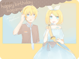 Happy Birthday Kagamine Rin and Len by Chi-Colate