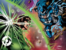 Green Lantern vs Black Hand 2 by MindWinder