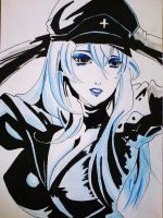 Fan art Esdeath From anime Akame Ga KIll! by Tama-Khun