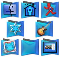 Blue Layers Icons by elsie432