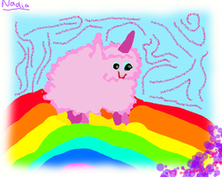 Pink Fluffy Unicorns Dancing On Rainbows! by Forever-Faithfull