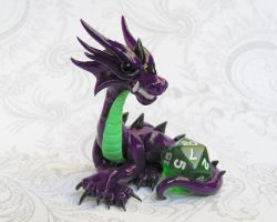 Purple Dice Dragon by DragonsAndBeasties