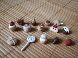 Assorted Sweets Charms by Tegatana