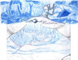 First two rough layouts for Patience Takes Flight by Animator-who-Draws