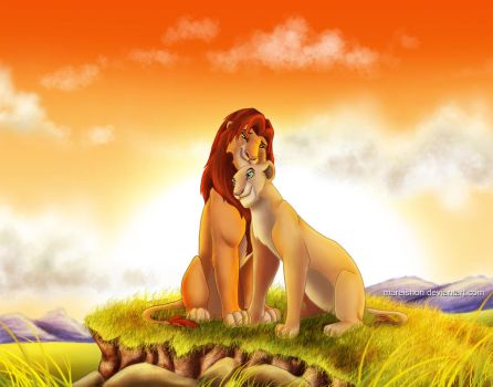 Simba and Nala by Mareishon