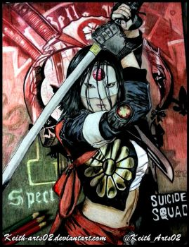 -FOR SALE-  Suicide Squad ~ Katana by Keith-arts02
