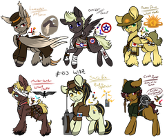 Military Pony Adopts [CLOSED] by Razorfin-Adopts