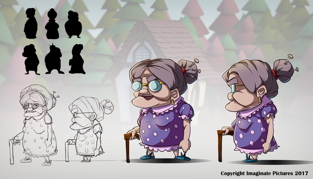 Shades of Red - 'Granny' development page by BourneLach