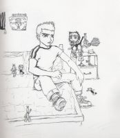 Chris in his room by Keiichi-chan