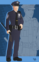 OC: Officer Russell Adder by GI-Ace