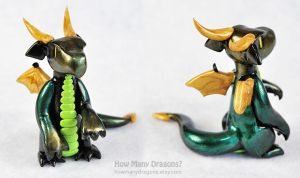 Green, Black and Gold by HowManyDragons