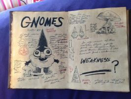 Gravity Falls Journal: Gnome page by moonshoespotter123