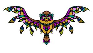 Owl Tattoo Design by Candy-Marie