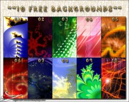 10 free backgrounds by LightConcorde
