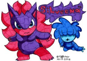 Silveena and Ziggy *Wallpaper Test* by trinityweiss
